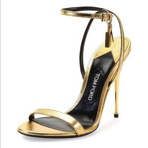 Tom Ford gold metallic sandle